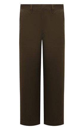 Мужские хлопковые брюки LOEWE хаки цвета, арт. H526Y04W01 | Фото 1