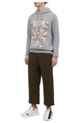 Мужские хлопковые брюки LOEWE хаки цвета, арт. H526Y04W01 | Фото 2