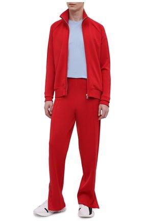 Мужской толстовка BOTTEGA VENETA красного цвета, арт. 647513/V0C10 | Фото 2 (Материал внешний: Вискоза, Синтетический материал; Длина (для топов): Стандартные; Рукава: Длинные; Стили: Спорт-шик; Мужское Кросс-КТ: Толстовка-одежда)