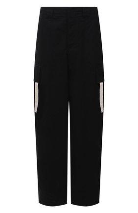 Мужские хлопковые брюки JACQUEMUS черного цвета, арт. 215PA04/107990 | Фото 1 (Длина (брюки, джинсы): Стандартные; Материал внешний: Хлопок; Случай: Повседневный; Стили: Минимализм)
