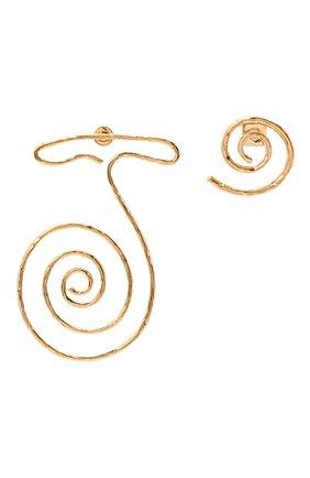 Женские серьги la spirale JACQUEMUS золотого цвета, арт. 211JW06   Фото 1