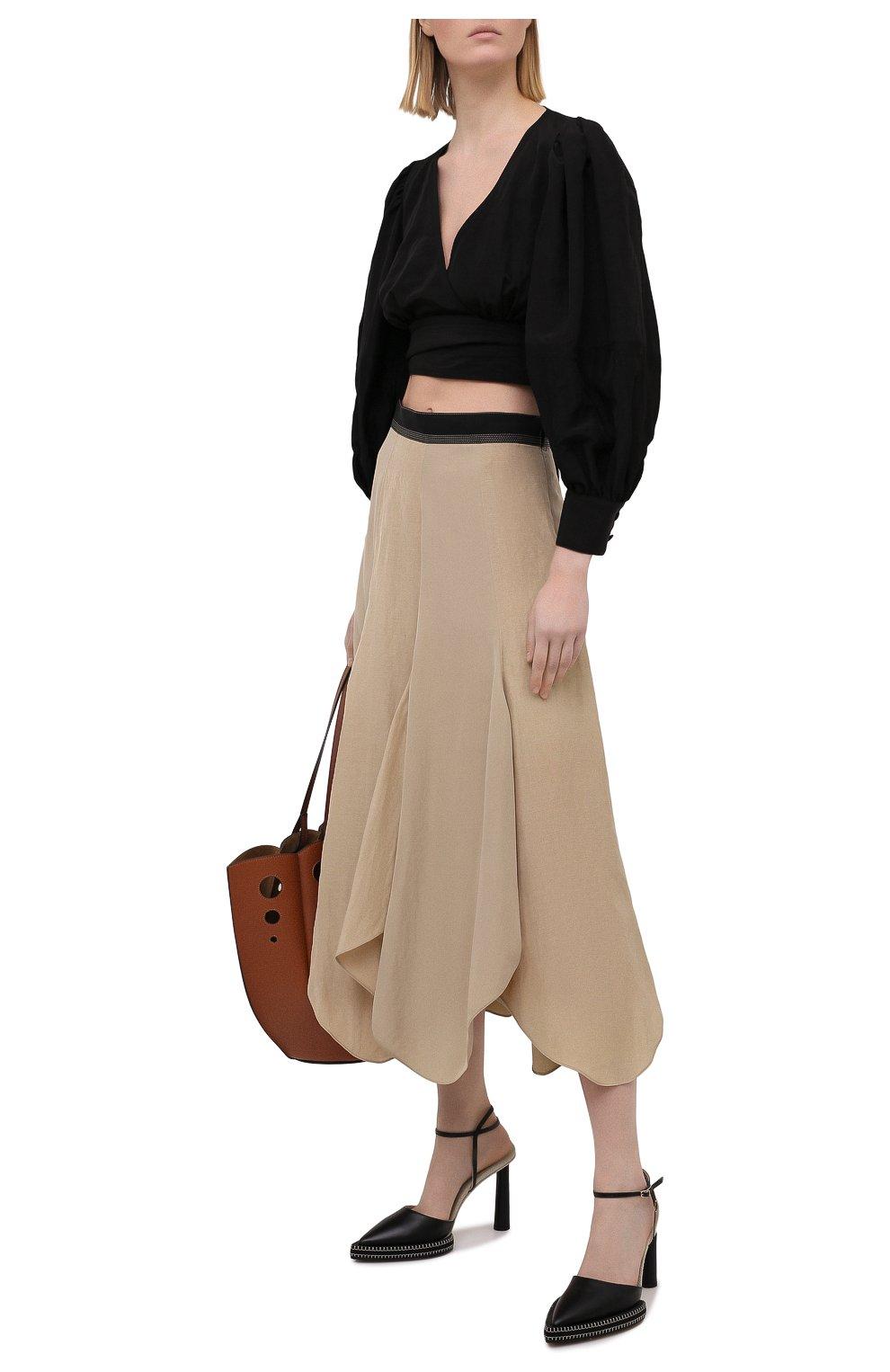 Женские кожаные босоножки novio JACQUEMUS черного цвета, арт. 211F012/401990 | Фото 2