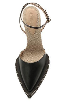 Женские кожаные босоножки novio JACQUEMUS черного цвета, арт. 211F012/401990 | Фото 5