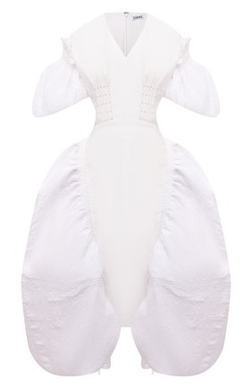 Женское хлопковое платье LOEWE белого цвета, арт. S540Y09XA6 | Фото 1