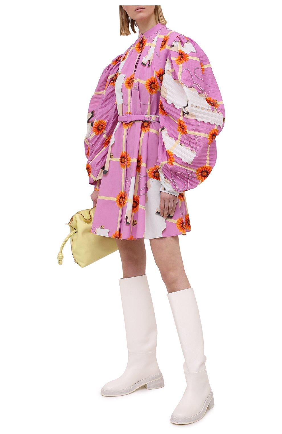 Женское хлопковое платье LOEWE розового цвета, арт. S540Y09XA4   Фото 2
