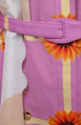 Женское хлопковое платье LOEWE розового цвета, арт. S540Y09XA4   Фото 5