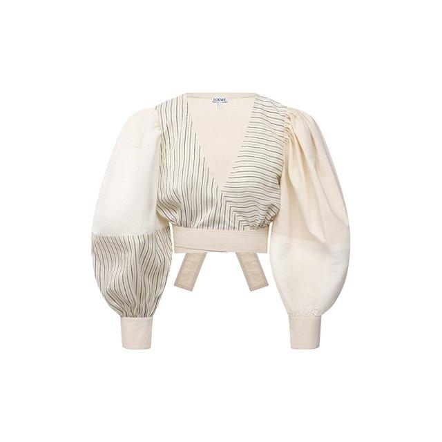 Хлопковая блузка Loewe