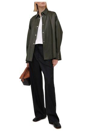 Женские шерстяные брюки LOEWE черного цвета, арт. S540Y04X35 | Фото 2