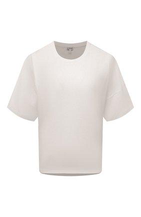 Женская хлопковая футболка LOEWE белого цвета, арт. S359341XA4 | Фото 1