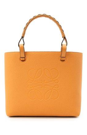 Женский сумка-тоут anagram small LOEWE желтого цвета, арт. A717S72X03 | Фото 1