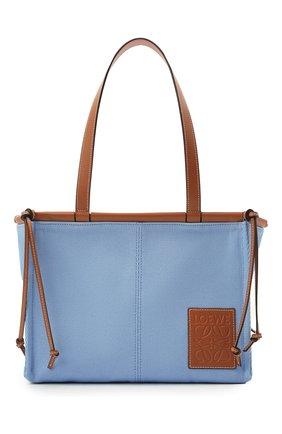 Женский сумка-тоут cushion loewe x paula's ibiza LOEWE голубого цвета, арт. 330.02AA93 | Фото 1