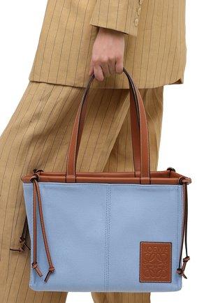 Женский сумка-тоут cushion loewe x paula's ibiza LOEWE голубого цвета, арт. 330.02AA93 | Фото 2