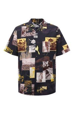 Мужская хлопковая рубашка Z ZEGNA разноцветного цвета, арт. 905020/ZC0B2 | Фото 1 (Длина (для топов): Стандартные; Рукава: Короткие; Материал внешний: Хлопок; Случай: Повседневный; Принт: С принтом; Воротник: Отложной; Стили: Кэжуэл)