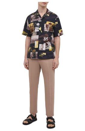Мужская хлопковая рубашка Z ZEGNA разноцветного цвета, арт. 905020/ZC0B2 | Фото 2 (Длина (для топов): Стандартные; Рукава: Короткие; Материал внешний: Хлопок; Случай: Повседневный; Принт: С принтом; Воротник: Отложной; Стили: Кэжуэл)