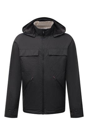 Мужская куртка Z ZEGNA черного цвета, арт. VW030/ZZ140 | Фото 1 (Рукава: Длинные; Длина (верхняя одежда): Короткие; Материал внешний: Синтетический материал; Материал подклада: Синтетический материал; Кросс-КТ: Куртка, Ветровка; Стили: Кэжуэл)