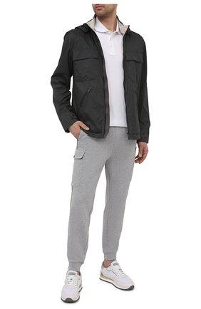 Мужская куртка Z ZEGNA черного цвета, арт. VW030/ZZ140 | Фото 2 (Рукава: Длинные; Длина (верхняя одежда): Короткие; Материал внешний: Синтетический материал; Материал подклада: Синтетический материал; Кросс-КТ: Куртка, Ветровка; Стили: Кэжуэл)