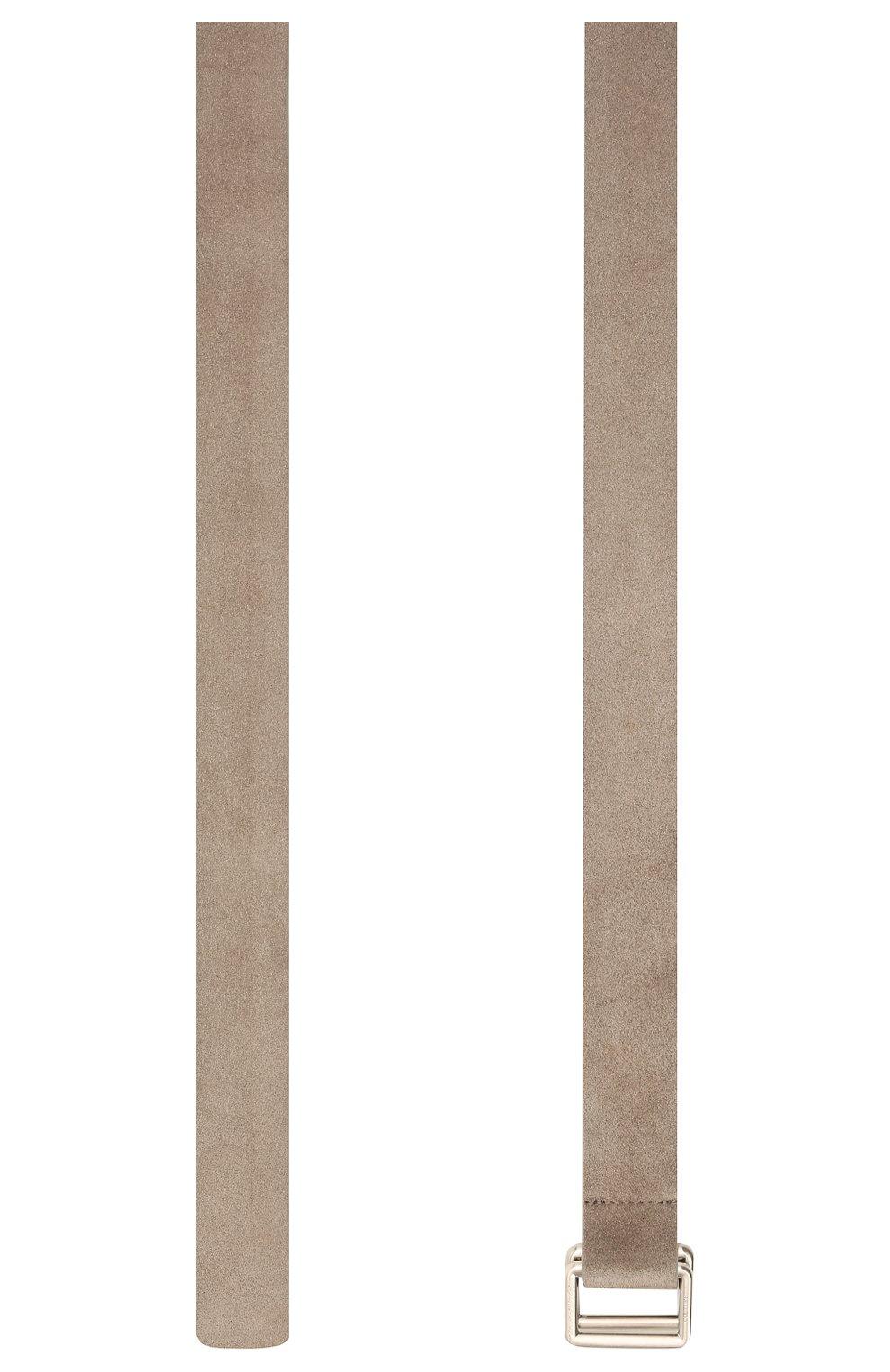 Мужской замшевый ремень ZEGNA COUTURE светло-серого цвета, арт. BGRATU/J1257X | Фото 2 (Случай: Повседневный)
