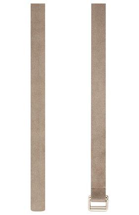Мужской замшевый ремень ZEGNA COUTURE светло-серого цвета, арт. BGRATU/J1257X | Фото 2