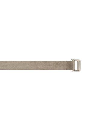 Мужской замшевый ремень ZEGNA COUTURE светло-серого цвета, арт. BGRATU/J1257X | Фото 3 (Случай: Повседневный)