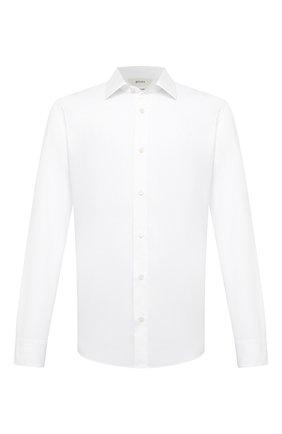 Мужская сорочка из хлопка и льна Z ZEGNA белого цвета, арт. 905061/ZCRC1   Фото 1