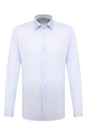 Мужская хлопковая сорочка Z ZEGNA светло-голубого цвета, арт. 905058/ZCRC1 | Фото 1