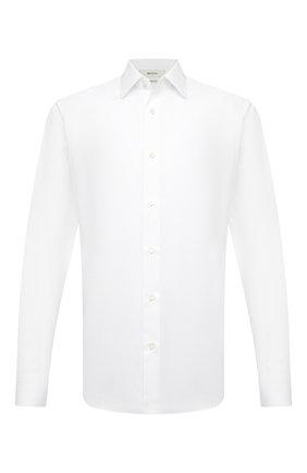 Мужская хлопковая сорочка Z ZEGNA белого цвета, арт. 905051/ZCRC1 | Фото 1 (Материал внешний: Хлопок; Рукава: Длинные; Длина (для топов): Стандартные; Случай: Формальный; Принт: Однотонные; Воротник: Кент; Рубашки М: Regular Fit; Стили: Классический; Манжеты: На пуговицах)