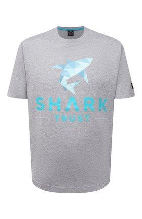 Мужская хлопковая футболка PAUL&SHARK серого цвета, арт. 21411013/C00   Фото 1