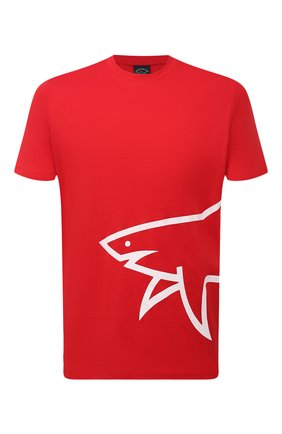 Мужская хлопковая футболка PAUL&SHARK красного цвета, арт. 21411070/C00 | Фото 1