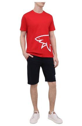 Мужская хлопковая футболка PAUL&SHARK красного цвета, арт. 21411070/C00 | Фото 2