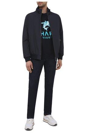 Мужской хлопковый свитшот PAUL&SHARK темно-синего цвета, арт. 21411830/C00 | Фото 2