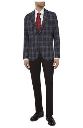 Мужской пиджак из шелка и шерсти SARTORIA LATORRE синего цвета, арт. EF74 Q90644 | Фото 2 (Материал подклада: Купро; Материал внешний: Шелк; Длина (для топов): Стандартные; Рукава: Длинные; Пиджаки М: Прямой; Случай: Коктейльный; 1-2-бортные: Однобортные; Стили: Классический)