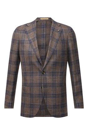 Мужской пиджак из шерсти и шелка SARTORIA LATORRE светло-коричневого цвета, арт. EF74 70657 | Фото 1