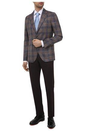 Мужской пиджак из шерсти и шелка SARTORIA LATORRE светло-коричневого цвета, арт. EF74 70657 | Фото 2