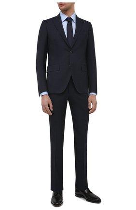 Мужской шерстяной костюм SARTORIA LATORRE темно-синего цвета, арт. A6I7EF U90033 | Фото 1 (Материал подклада: Купро; Материал внешний: Шерсть; Рукава: Длинные; Костюмы М: Однобортный; Стили: Классический)