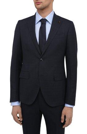 Мужской шерстяной костюм SARTORIA LATORRE темно-синего цвета, арт. A6I7EF U90033 | Фото 2 (Материал подклада: Купро; Материал внешний: Шерсть; Рукава: Длинные; Костюмы М: Однобортный; Стили: Классический)
