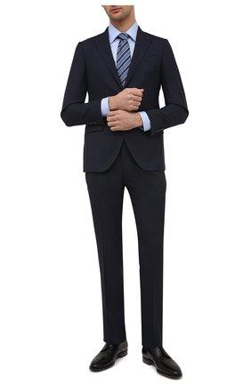 Мужской шерстяной костюм SARTORIA LATORRE темно-синего цвета, арт. A6I7EF U90002 | Фото 1