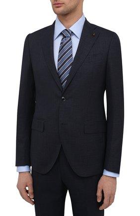 Мужской шерстяной костюм SARTORIA LATORRE темно-синего цвета, арт. A6I7EF U90002 | Фото 2