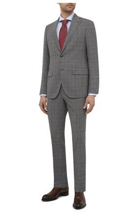 Мужской шерстяной костюм SARTORIA LATORRE серого цвета, арт. A6I7EF Q90982 | Фото 1