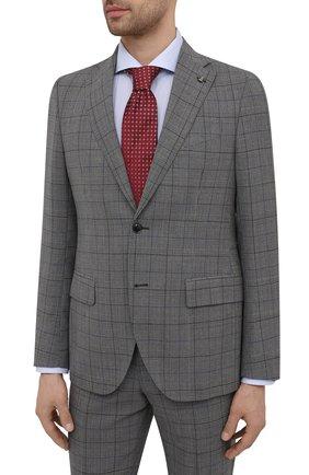 Мужской шерстяной костюм SARTORIA LATORRE серого цвета, арт. A6I7EF Q90982 | Фото 2