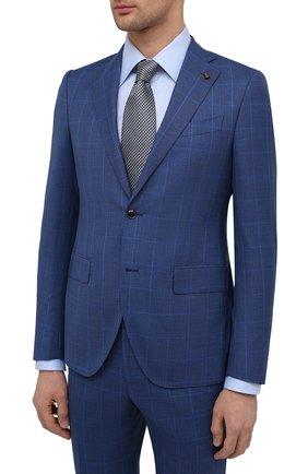 Мужской шерстяной костюм SARTORIA LATORRE синего цвета, арт. A6I7EF Q90144 | Фото 2