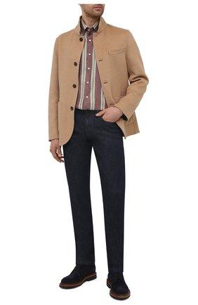 Мужская рубашка изо льна и хлопка ZILLI коричневого цвета, арт. MFV-21087-594/ZS20 | Фото 2