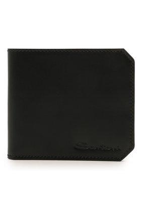 Мужской кожаный футляр для кредитных карт SANTONI черного цвета, арт. UFPPA1393F0-XVVDN01 | Фото 1 (Материал: Кожа)