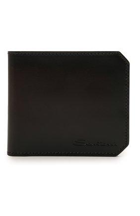 Мужской кожаный футляр для кредитных карт SANTONI темно-коричневого цвета, арт. UFPPA1393F0-XVVDT50 | Фото 1