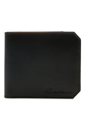Мужской кожаный футляр для кредитных карт SANTONI темно-синего цвета, арт. UFPPA1393F0-XVVDU59 | Фото 1