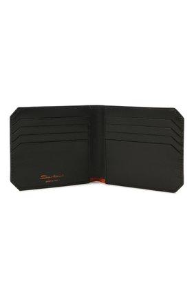 Мужской кожаный футляр для кредитных карт SANTONI темно-синего цвета, арт. UFPPA1393F0-XVVDU59 | Фото 3
