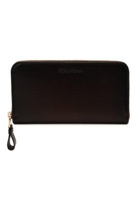 Мужской кожаный футляр для документов SANTONI темно-коричневого цвета, арт. UFPPA1427F0-HVVDT50 | Фото 1