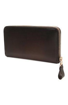 Мужской кожаный футляр для документов SANTONI темно-коричневого цвета, арт. UFPPA1427F0-HVVDT50 | Фото 2