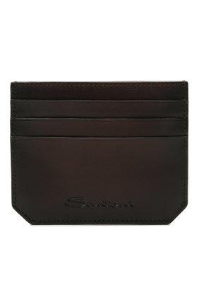 Мужской кожаный футляр для кредитных карт SANTONI темно-коричневого цвета, арт. UFPPA2026F0-XVVDT50 | Фото 1