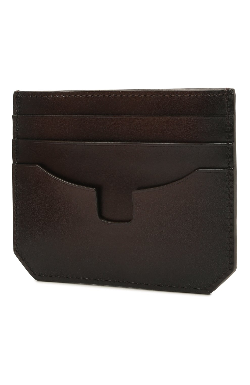 Мужской кожаный футляр для кредитных карт SANTONI темно-коричневого цвета, арт. UFPPA2026F0-XVVDT50 | Фото 2