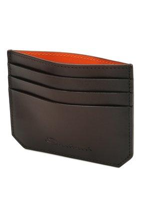 Мужской кожаный футляр для кредитных карт SANTONI темно-коричневого цвета, арт. UFPPA2026F0-XVVDT50 | Фото 3